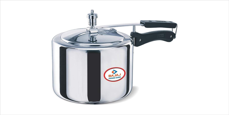 Bajaj PCX 43 Induction Base Pressure Cooker, 3 litres (Sliver)