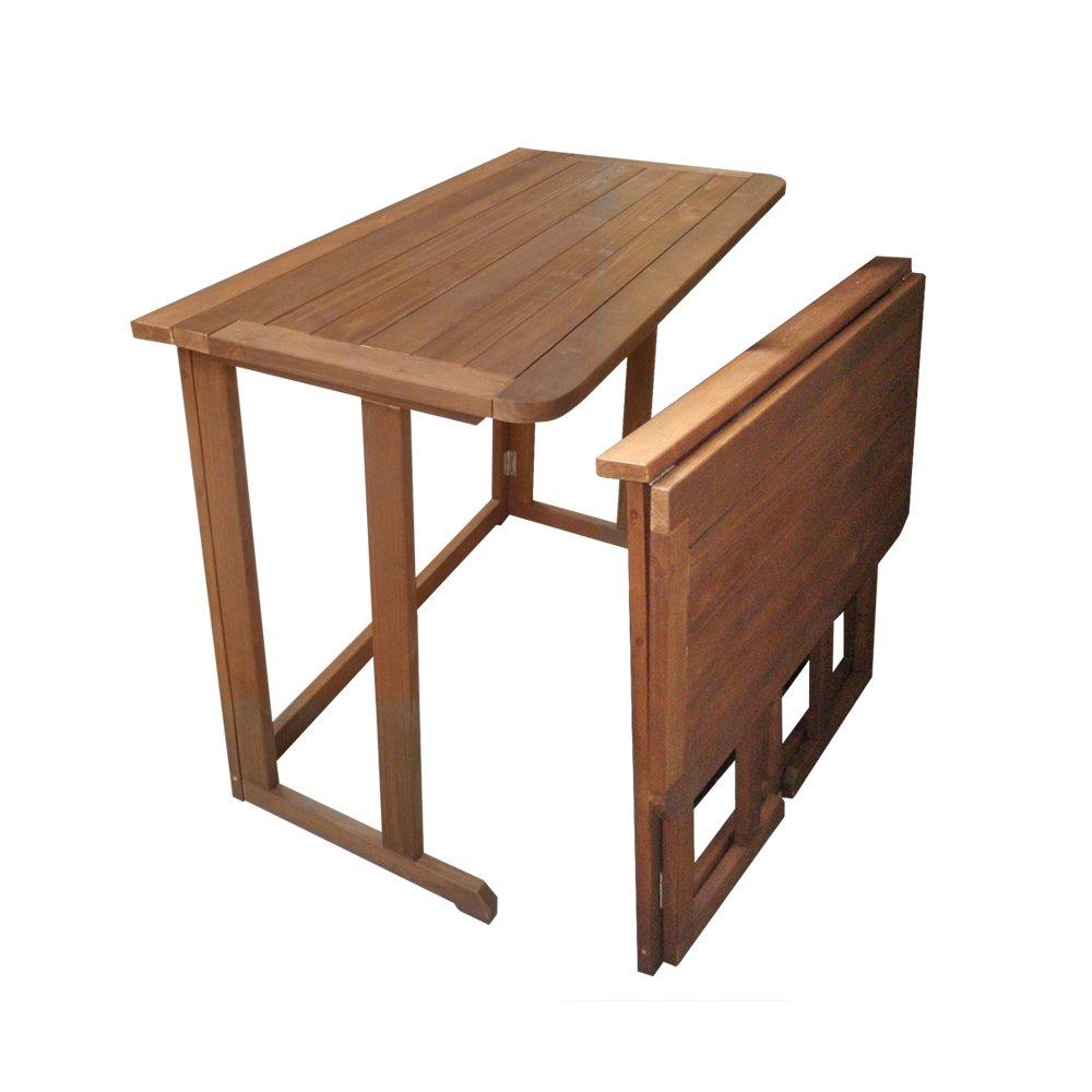 Amazon.de: Balkonmöbel Balkonset Gartenmöbel Teak Optik Holz Stuhl ...