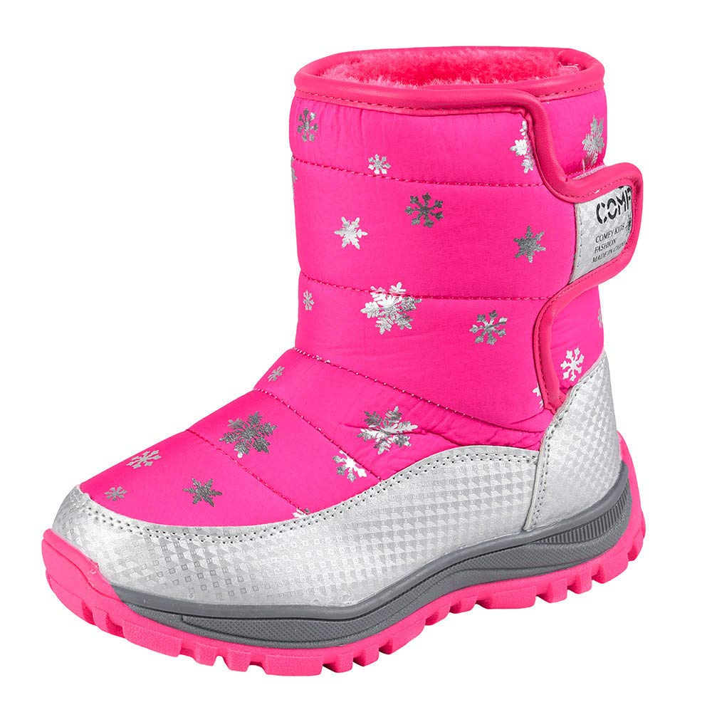 Vovotrade Children Snow Boots Winter Warm Middle Boots Casual Students Sneakers Vovotrade Baby Shoes