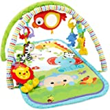 Fisher Price CHP85 Rainforest Friends 3-in-1 Musical Activity Gym, New-Born Baby Play Mat with Music and Sounds, Suitable from Birth