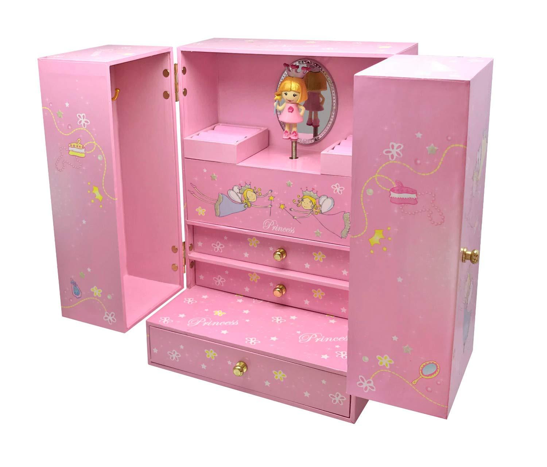Pink Trousselier Musical Cabinet Princess Treasure Box