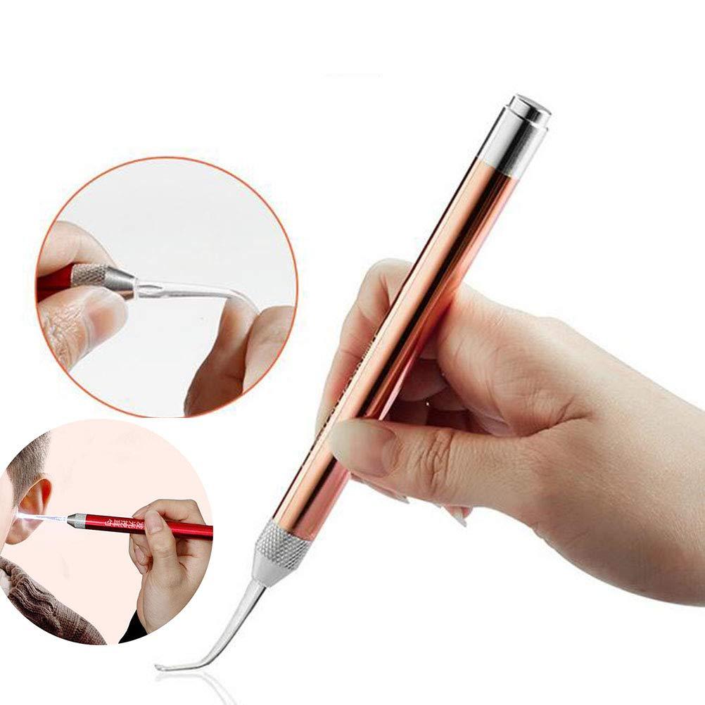 2Pcs Herramienta De Eliminación De Cera De Oído Con Luz Blanca Y Caja De Almacenamiento, Rcolor Al Azar XGLL