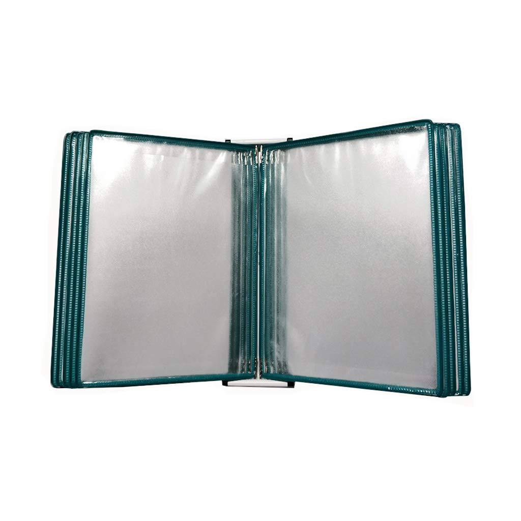 QSJY File Cabinets Flip Folder, Wall-Mounted Loose-Leaf Transparent Page Display Stand (PVC + Metal) 33 23 10CM