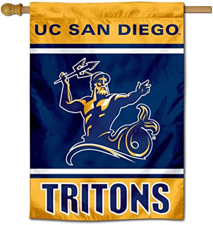 Amazon Com College Flags Banners Co San Diego Tritons Two Sided And Double Sided House Flag Sports Outdoors
