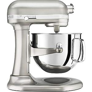 KitchenAid RKSM7581SR 7 Qt Bowl Lift Stand Mixer, Silver (Renewed)