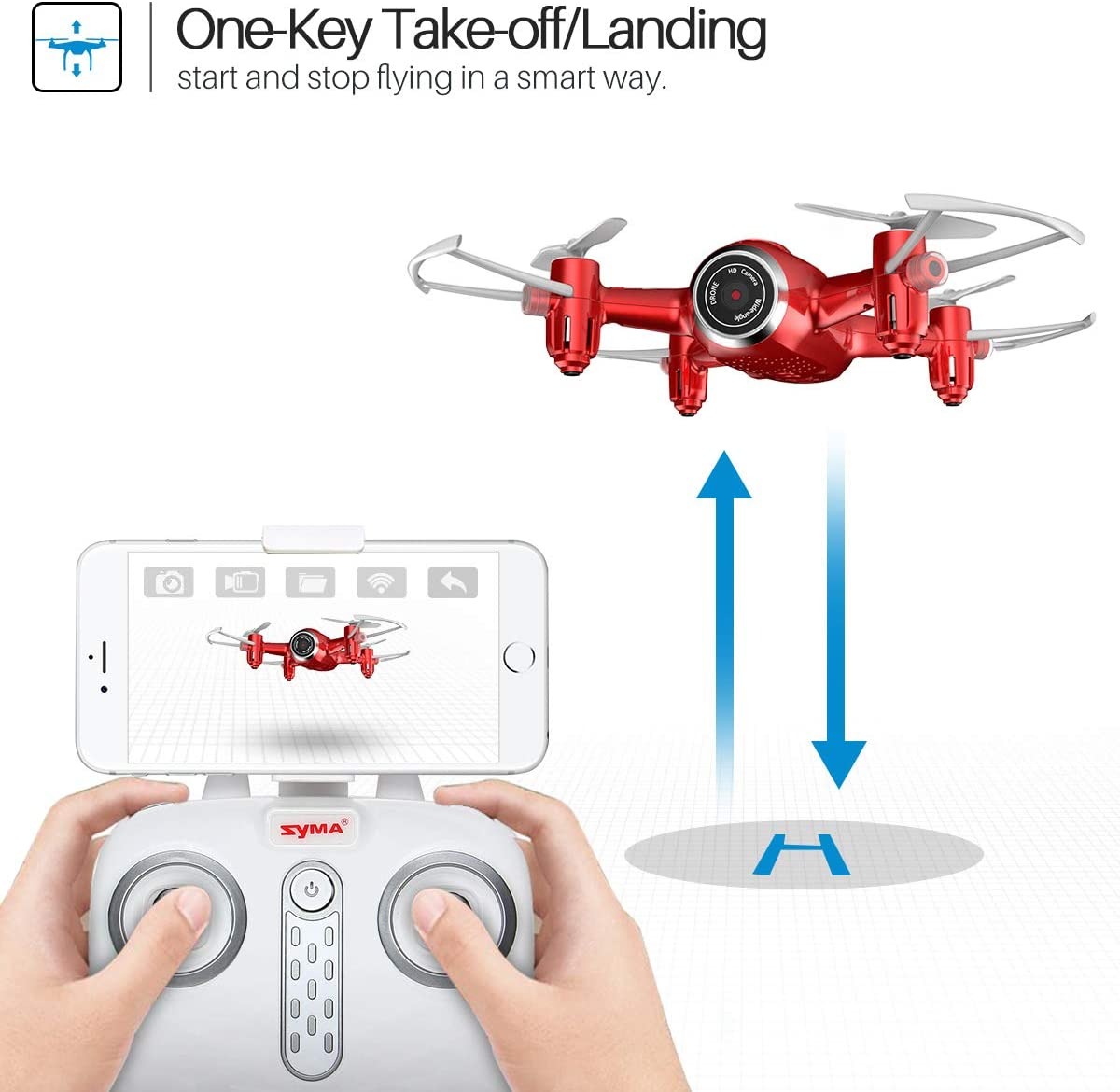 syma x22w mini drone review as pocket drone with camera