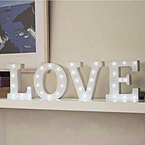 led letter lights decorative alphabet lights wooden light up decor lamp for wedding party bar