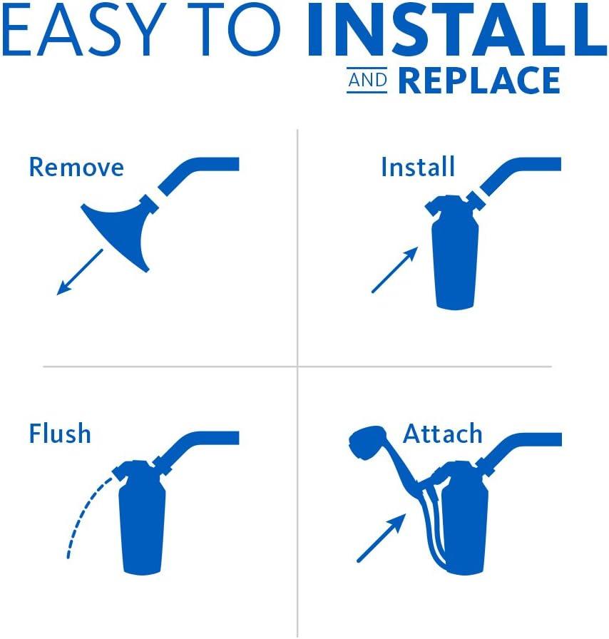 Aquasana AQ-4105 Shower head Filter easy to install