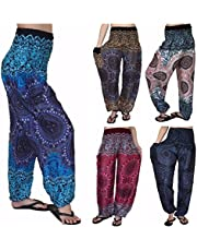 Love Quality Plus Size Pants, Baggy One Size Rose Hippie Yoga, Maternity, Boho
