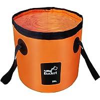 Esthesia Collapsible Bucket, 5 Gallon Bucket Multifunctional Portable Collapsible Wash Basin Folding Bucket Water…