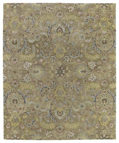 Kaleen 3200-05-810 Helena Collection Hand Tufted Area Rug, 8' x 10', Gold Athena Sage Rug