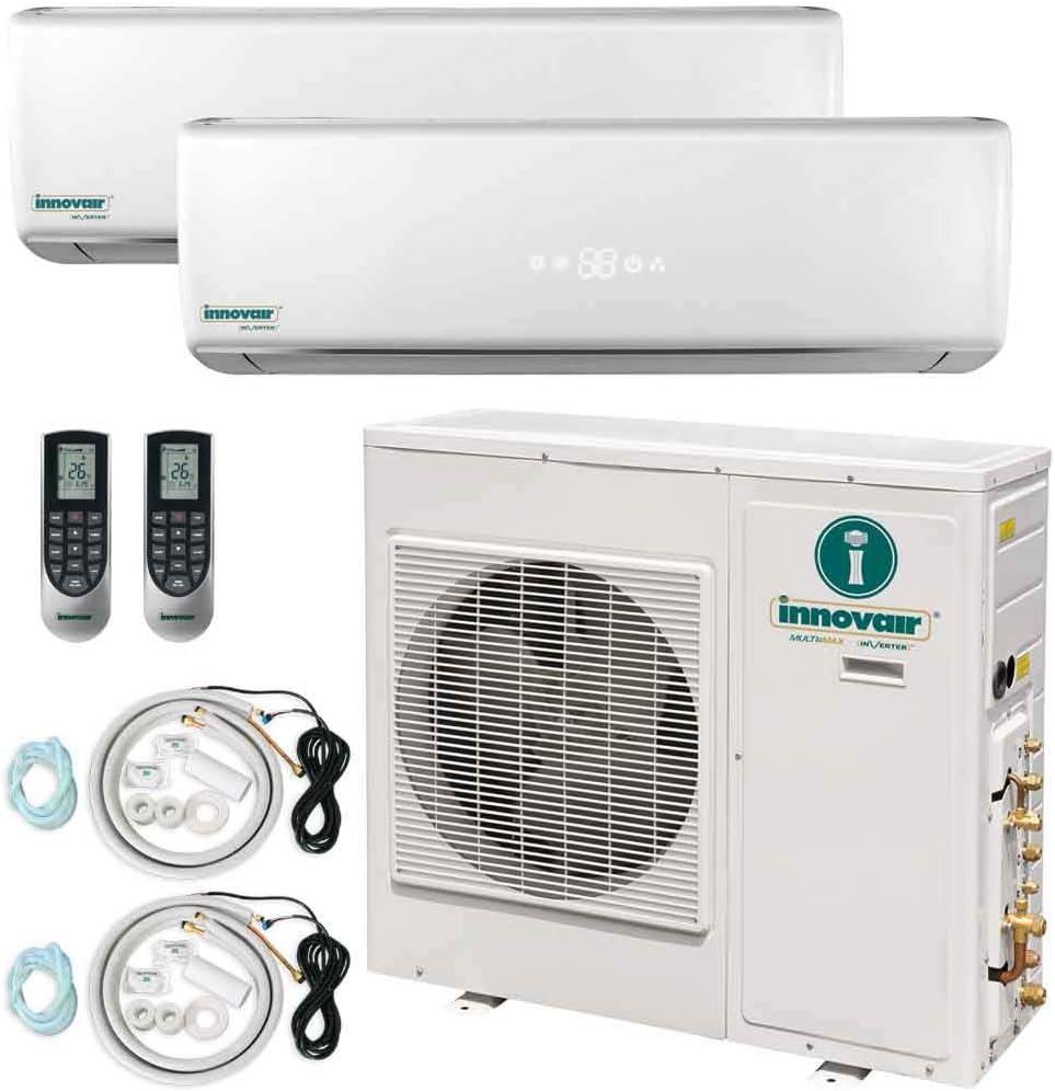 Innovair Air Conditioner Dual Zone Mini Split Heat Pump System (2 Zone) (18,000 BTU (2 x 9,000 BTU))