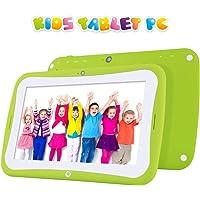 Tableta Android para niños con estuche resistente para niños, pantalla HD de 7 pulgadas que incluye 1 GB de RAM, 16 GB de almacenamiento interno, wifi, bluetooth e iwawa preinstalados y control parental