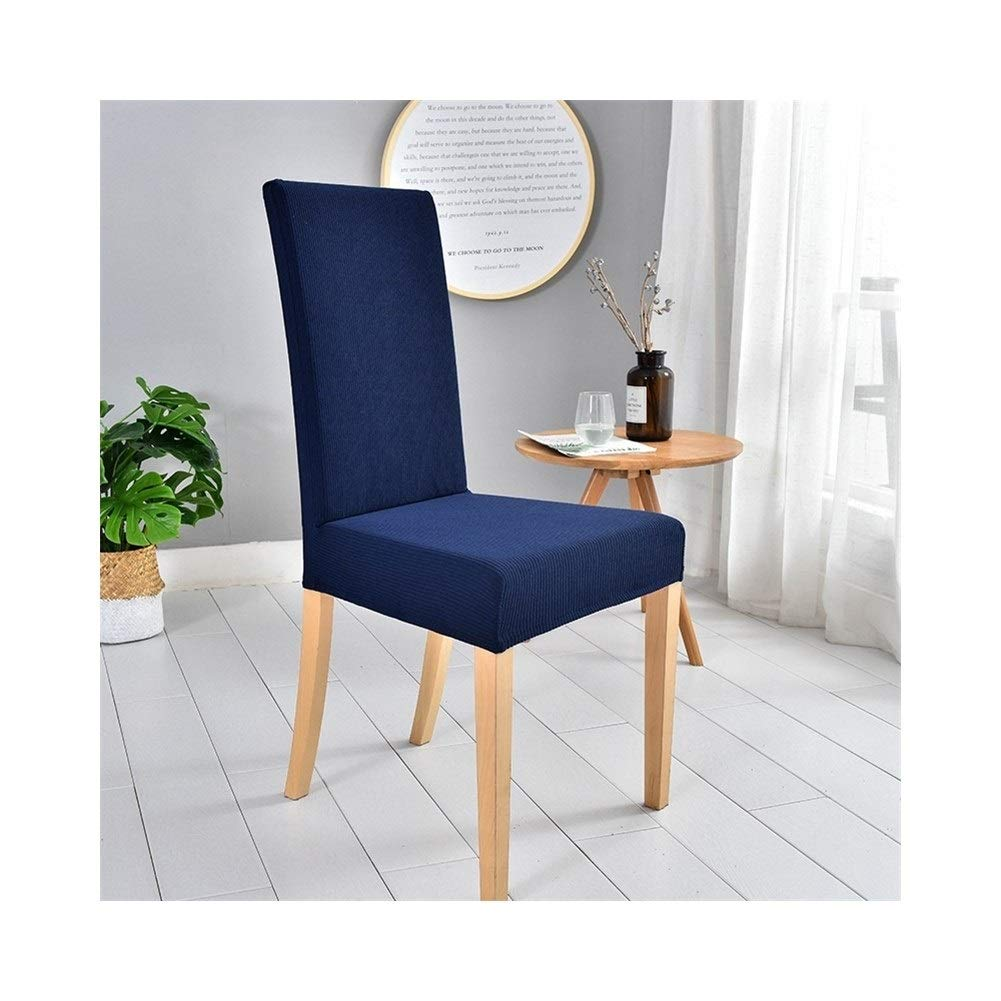 Classic Stretch Chair Covers for Dining Room Set of 2, for Counter Height Side Chairs Covers Removable Chair Cover for Banquet Chairs (Color : Dream Blue, Size : 2 Pack)
