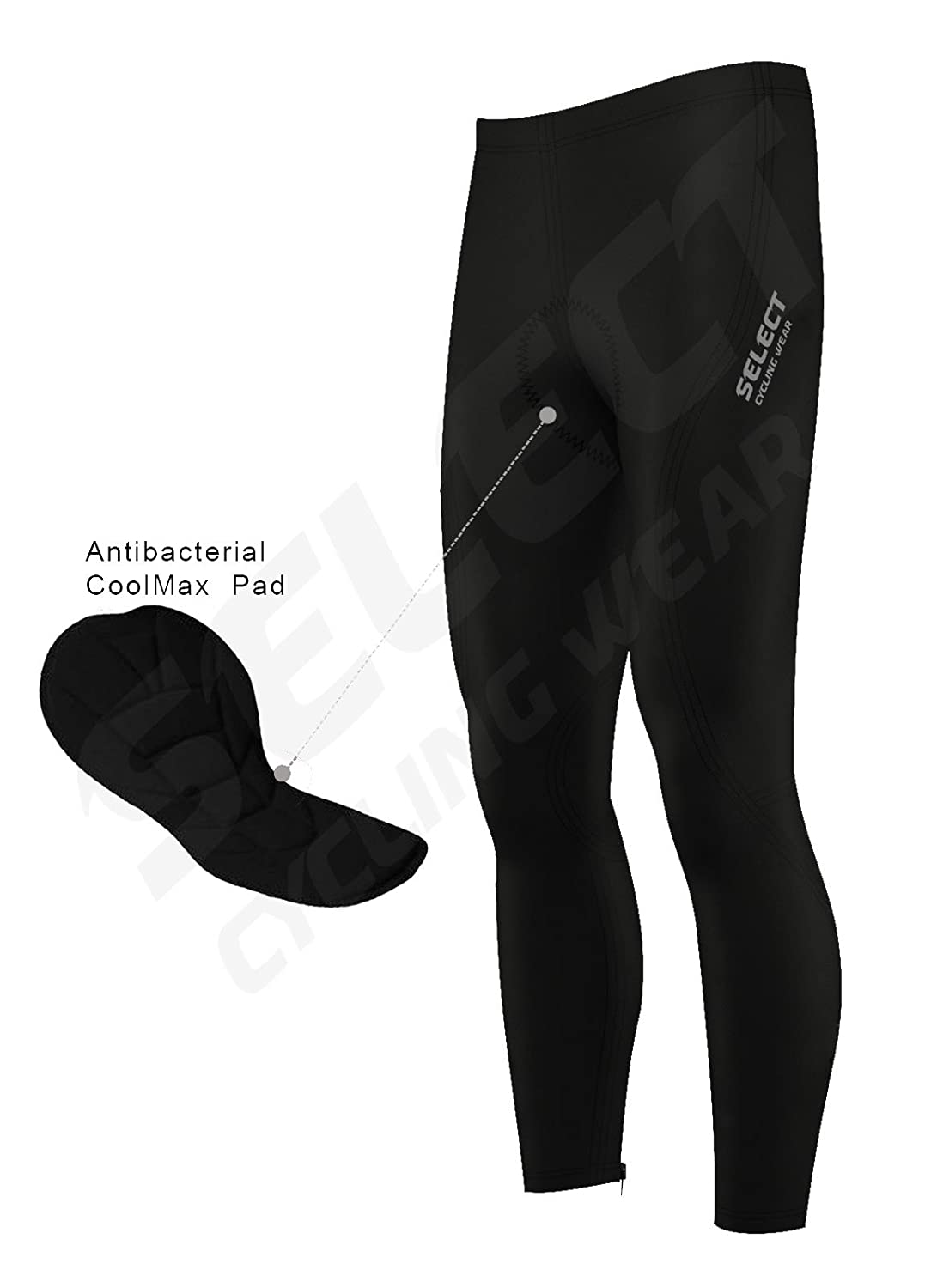 Select Cycling Tights Winter Thermal Cold Wear Padded Legging