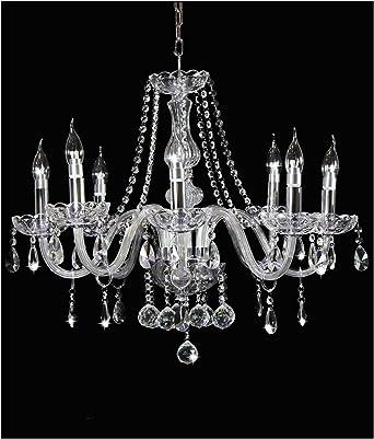 Maria Theresa 6 Light Crystal Chrome Chandelier