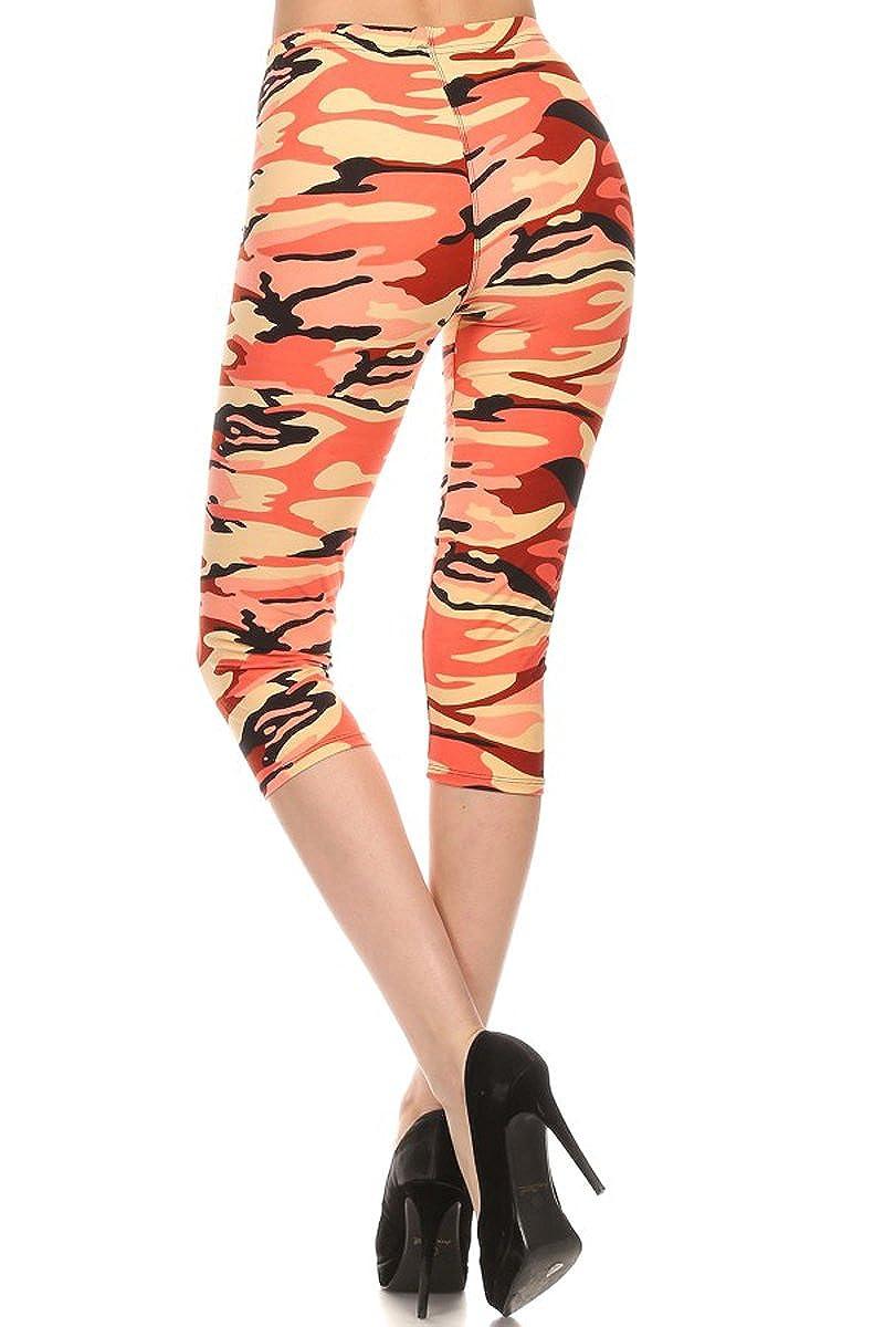 79e8a0d30b213 Leggings Depot Women s Plus Size High Waisted Capri Print Leggings at  Amazon Women s Clothing store