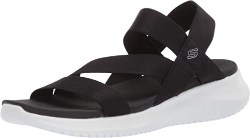 Skechers Womens Flex-Ultra Boogie-Stretch Gore Strap Sandal