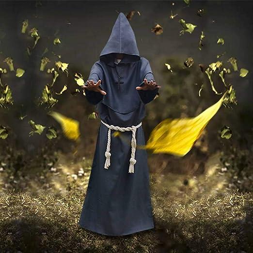 GUAN Disfraz de Cosplay de Halloween Disfraz de Monje ...