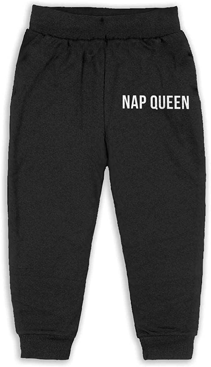 Child Black GHYNJUM Nap Queen Unisex 2-6T Autumn and Winter Cotton Casual Trousers