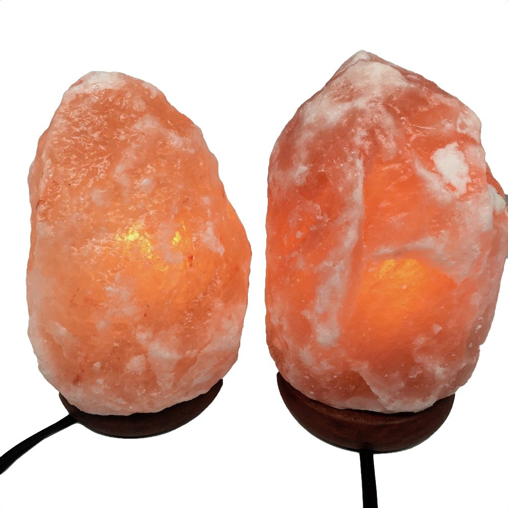 2x Himalaya Natural Handcraft Rough Raw Crystal Salt Lamp 7''-7.5''Tall, X077, Exact Item Delivered by Watan Gems