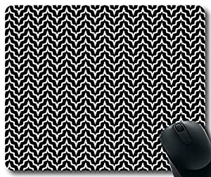 Abstract-Geometric-Pattern-With-Black-And-White-Style Mousepad,Rectangular Mouse Pad