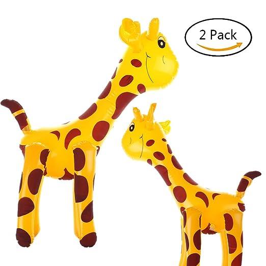 u-hoMEy Pack de 2 jirafas hinchables de 50 cm, diseño de ...