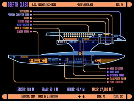 the museum outlet charts of lcars ufp oberth class starship a3