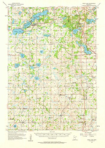 YellowMaps Prior Lake MN topo map, 1:62500 Scale, 15 X 15 Minute, Historical, 1957, Updated 1964, 21.1 x 14.9 in - Polypropylene