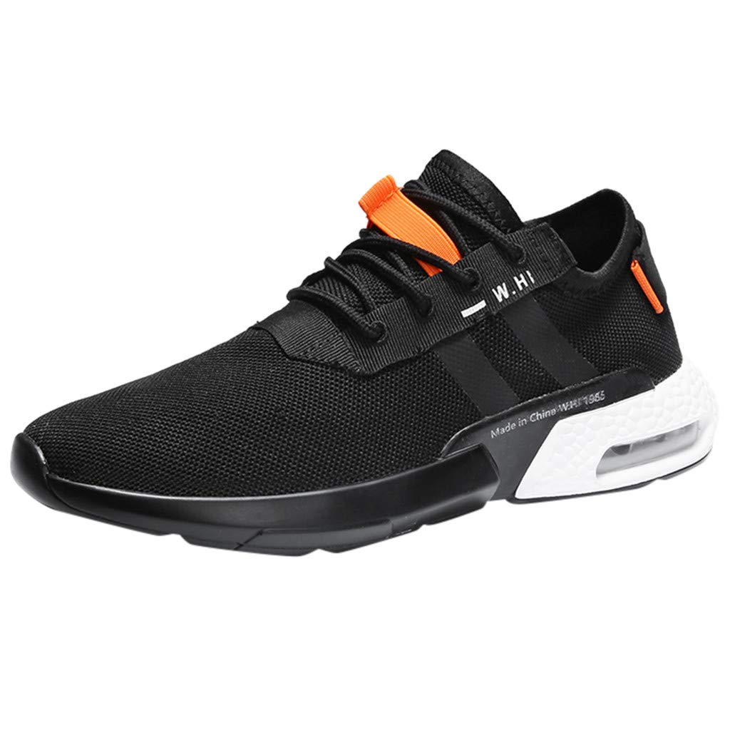 Men's Lightweight Mesh Sneakers Outdoor Casual Sport Running Wild Flying Woven Breathable Air Cushion Shoes