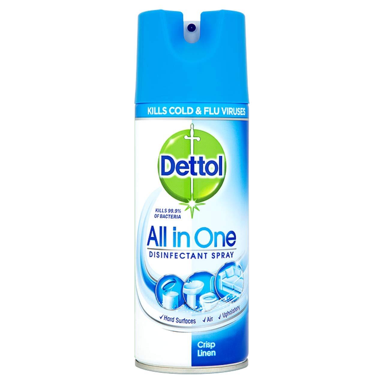 Dettol All In One Disinfectant Spray Crisp Linen - 400 ml Pack Of