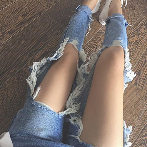 Agujero Zarco Mujer Pantalones Agujeros Casual De Vaqueros Jeans 1wq5Tw06