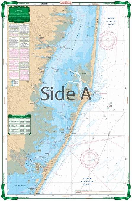 Amazon com waterproof charts large print barnegat bay posters