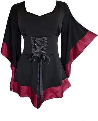 Dare to Wear Victorian Gothic Boho Women's Plus Size Treasure Corset Top