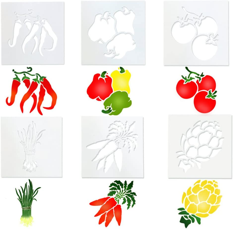 Seawang Lot de 6/fruits et l/égumes Forme g/âteau Pochoirs Pochoir Cookie g/âteau Fondant Moule
