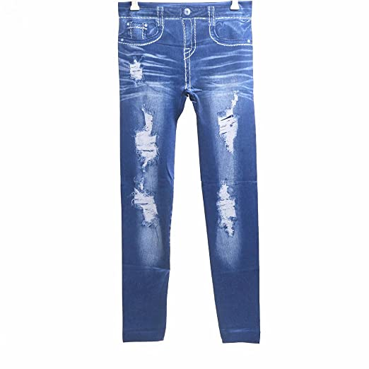 73fea5ccb1 Fvanor 9018 Blue Women Skinny Jeggings Stretchy Sexy Soft Leggings Tights  Skinny Pants