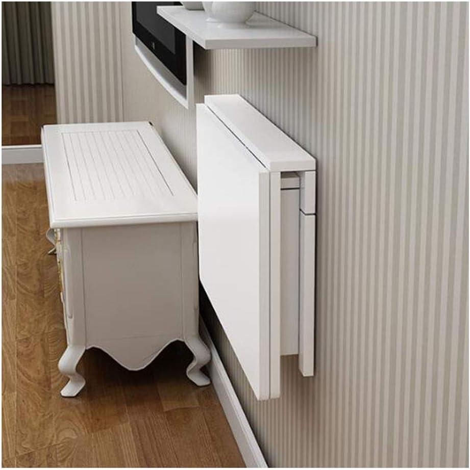Table Pliante Murale Bureau Table de Cuisine Pas de chaises Color : White, Size : 100 * 50cm GEXING Table Murale Rabattable Table dordinateur