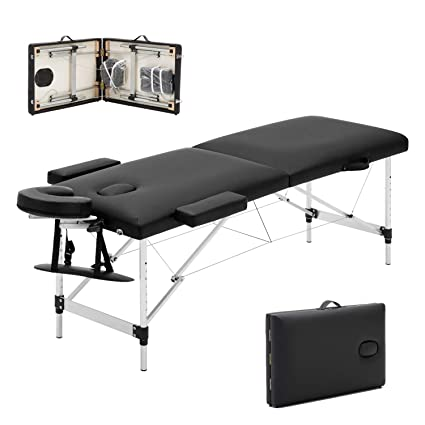 Miraculous Meerveil Portable Massage Table Lightweight Couch Bed Folding Beauty Couch Bed Adjustable Plinth Therapy Reiki Tattoo Salon Beauty Spa Couch With Squirreltailoven Fun Painted Chair Ideas Images Squirreltailovenorg