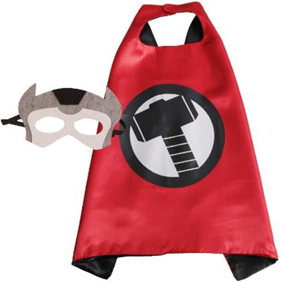 NO.6 NYKKOLA Cartoon Dress Up Costumes Satin Capes with Felt Masks for Children Boy and Girl NO.2