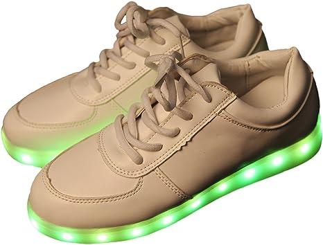 iikids Colorido LED zapatos de carga USB Parejas zapatos de la Moda Zapatillas con ruedas led deportivas carrefour: Amazon.es: Ropa y accesorios