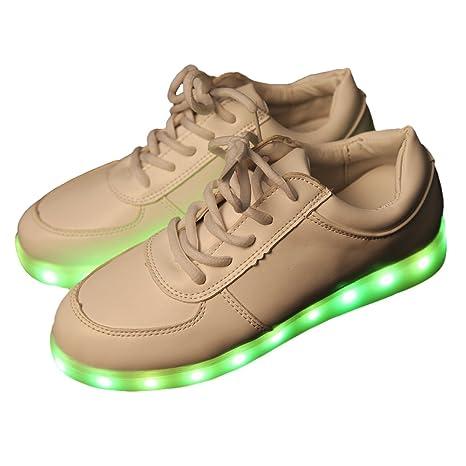 iikids Colorido LED zapatos de carga USB Parejas zapatos de la Moda Zapatillas con ruedas led