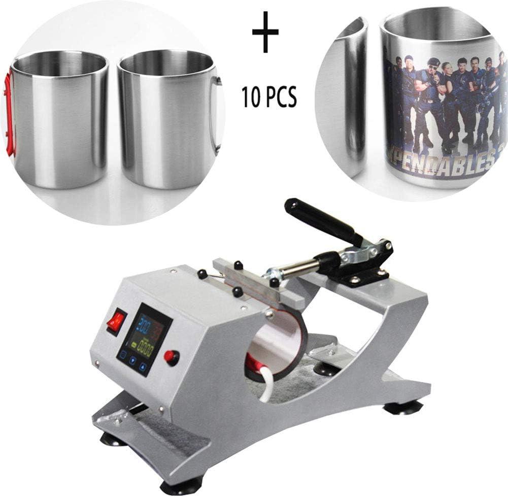 NXW Prensa Termica,Plancha De Calor Máquina para Sublimación Tazas Maquina De Transferencia De Prensa Térmica Estación Tazas con Pantalla LCD para Impresión Taza