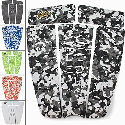 (SBBC - Surfboard Stomp Pad - || 5 Piece Stomp Pads || - Custom Fingerprint Texture, Long Lasting Traction Pads for Surfboard & Skimboards)