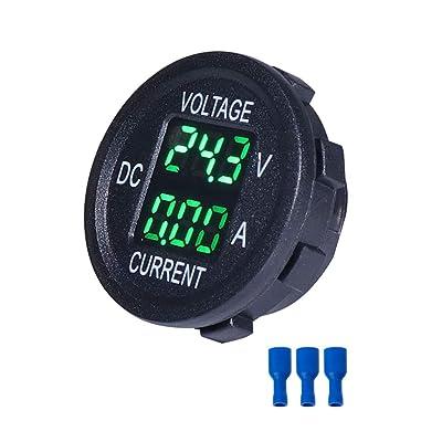 Hardli Universal DC 9V to 48V 10A Digital Voltmeter Ammeter Voltage Current Meter Measurement LED Display for 12V 24V 36V Electric Bike Motorcycle Car Truck: Automotive