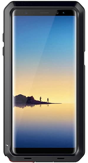 seacosmo Funda Compatible con Galaxy Note 8, [Rugged Armour] Carcasa Heavy Duty de Choque Resistente Estuche Anti-choques Metal Case, Negro