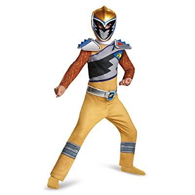Disguise Gold Ranger Dino Charge Classic Costume, Medium (7-8): Toys & Games