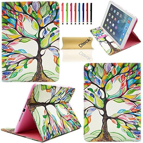 iPad Air Case, iPad 5 Case, Dteck(TM) Cartoon Cute PU Leather [Kickstand] Flip Wallet Case for Apple iPad Air/ Apple iPad 5 Generation (9.7 Inch) (01 Big Tree)