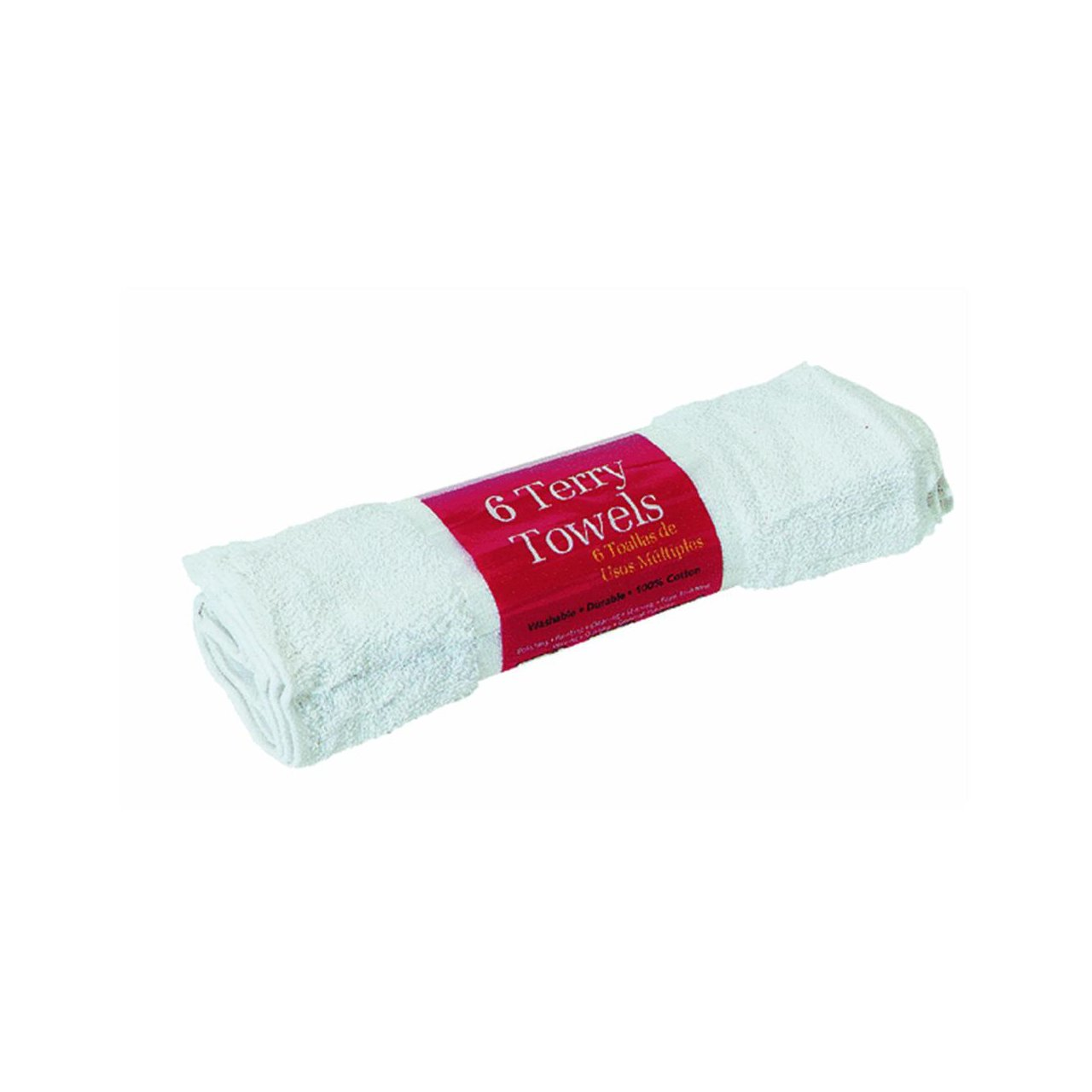 Amazon.com: Trimaco 10756/12 White SuperTuff Cotton Terry Towels 6 Count: Home & Kitchen