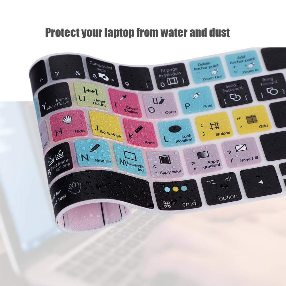 Premiere Pro CC Dustproof and Waterproof Keyboard Cover,Keyboard Cover13//15 inch Touch Bar Protector Film for MacBook Wendry Ultra-Thin Keyboard Cover