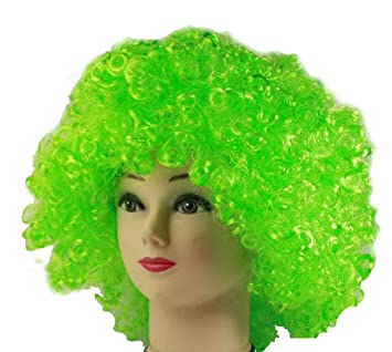 HAAC Peluca Afro Afro Peluca Color Verde para Carnaval,, Party
